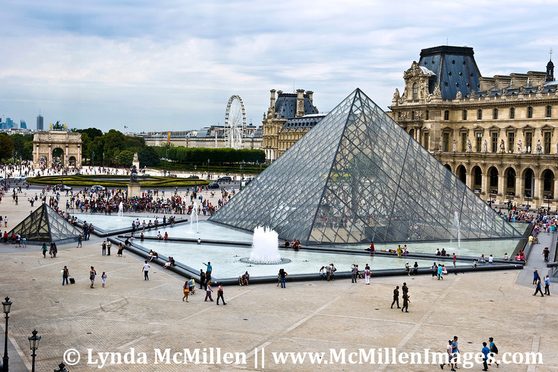 I.M. Pei's pyramid completed 1989.