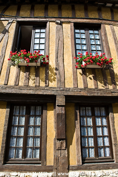 Meticulously maintained half-timbered structures.