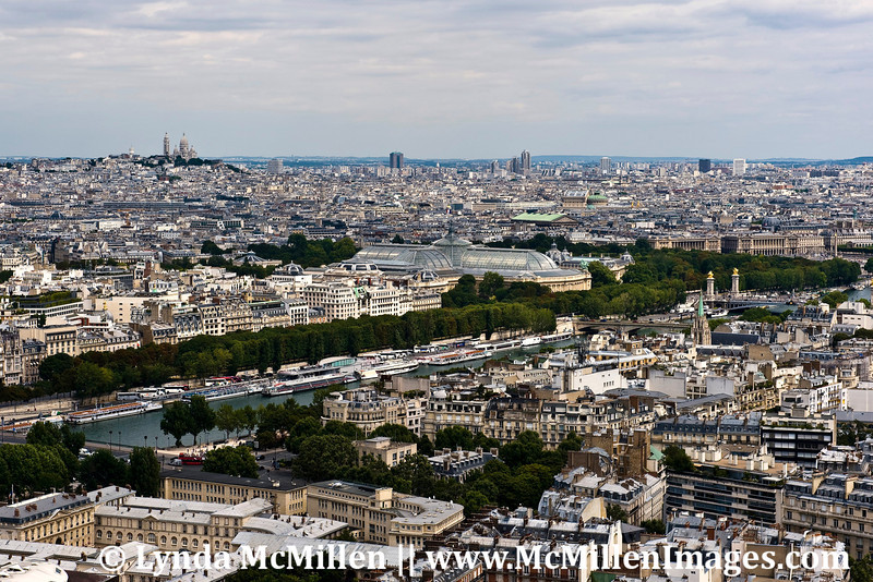 View to Monmartre from Eiffel Tower.