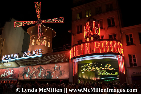 Moulin Rouge, birthplace of the then risqué can-can dance.