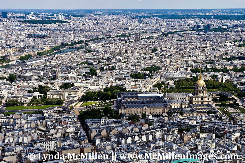 Les Invalides from Eiffel Tower