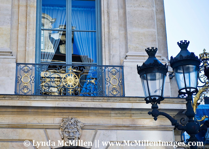 The Sun King Louis XIV is evident in the guilded ironwork and light standards.