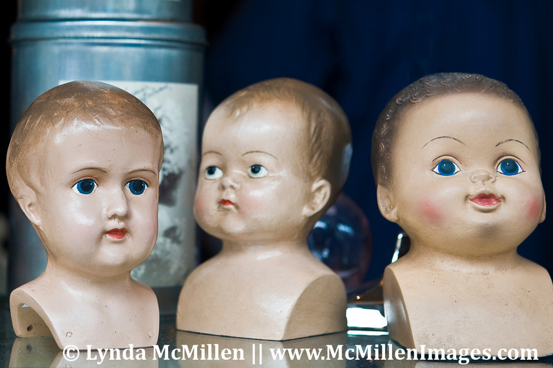 "Antique doll ""character heads"""