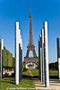 Eiffel Tower through Peace totems