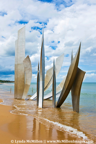 """THE BRAVE"" monument at Omaha Beach."