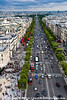 Champs-Elysées from top of Arc de Triomphe