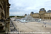 Louvre's courtyard and I.M. Pei's pyramid.