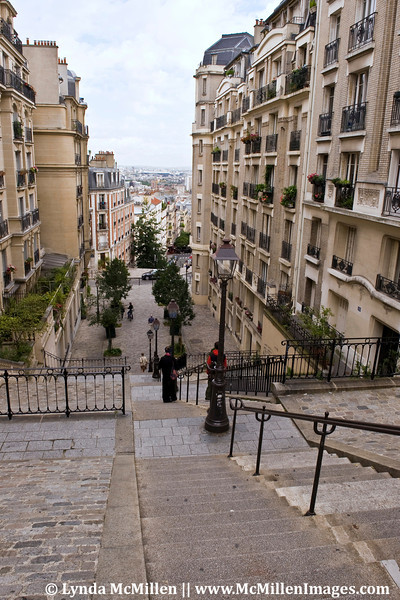 Descending from Monmartre.