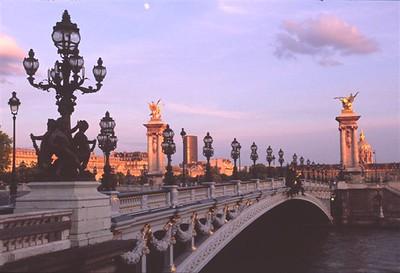 Paris evening along the Seine - Pont Alexandre III