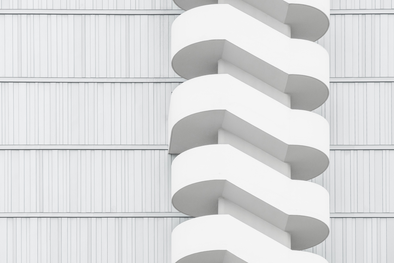 A staircase on a residential building near Beaugrenelle, Paris
