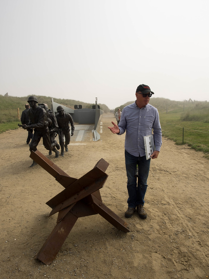 Dale Booth, explaining the Utah Beach landing.