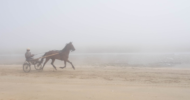 Utah Beach in the fog