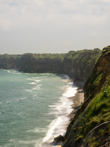 The Cliffs of Pointe du Hoc that the Army Rangers scaled.