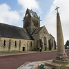 Ste Mere Eglise church.  First town liberated by paratroopers on D-Day.