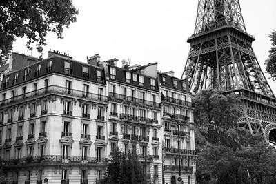 Beside the Eiffel Tower