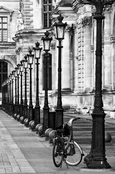 Paris Lamp Posts and Bicycle