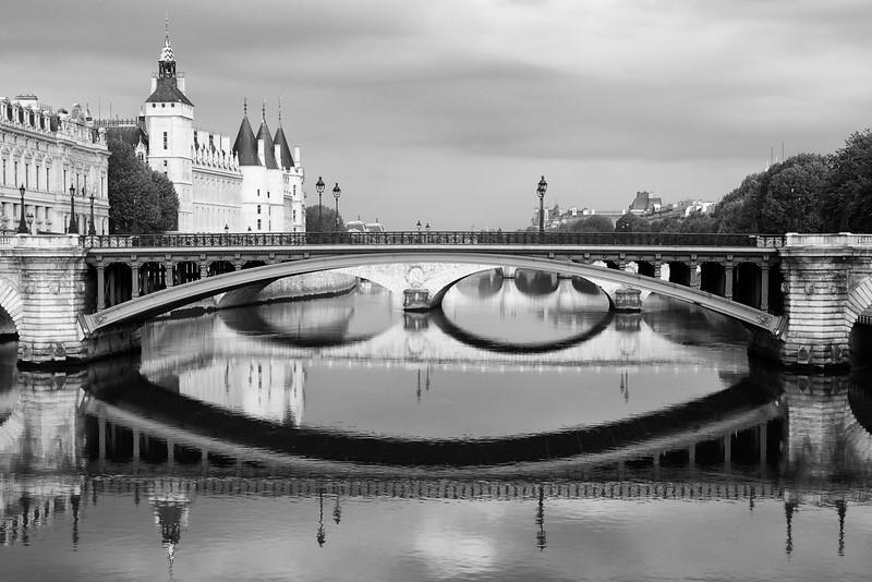 Paris Seine Reflections and Conciergerie