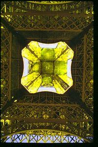 Eiffel Tower -- looking up from directly beneath