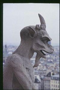 Notre Dame Cathedral, gargoyle portrait