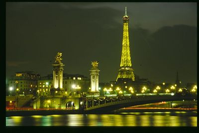 Paris Illuminated, Pont Alexander III and Eiffel Tower