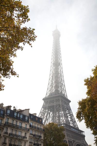 Paris Eiffel Tower in Fog
