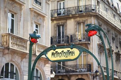 Paris Art Nouveau Metro Sign