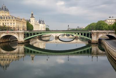 Paris Bridge Reflections
