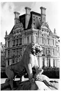 Tuileries Lion and Louvre