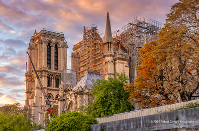 Notre Dame Under construction