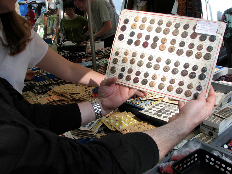 buttons at the flea market