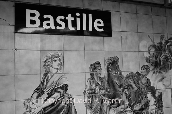 The Bastille Metro Stop. (DG)