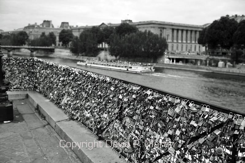 """Love locks"" on the Pont Neuf. (DG)"