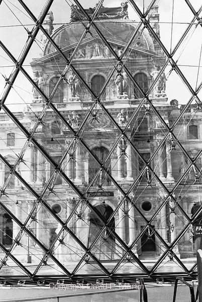 The Louvre through the Pei pyramid.