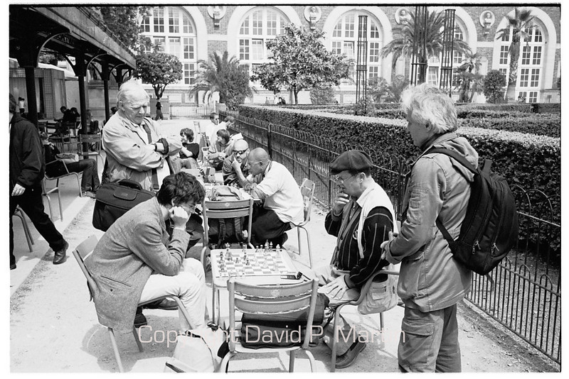 Chess in the Jardin du Luxembourg.