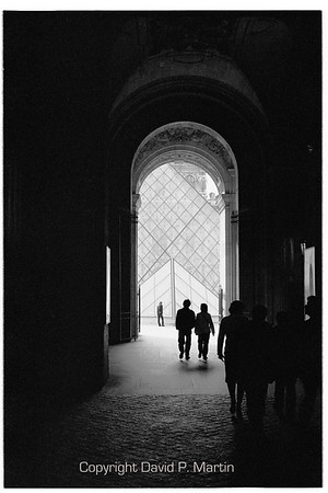A passageway to the courtyard of the Louvre.