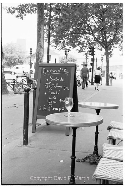 Sidewalk cafe.