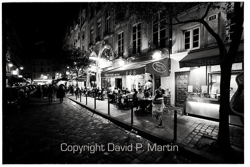 Evening on Rue de la Harpe.
