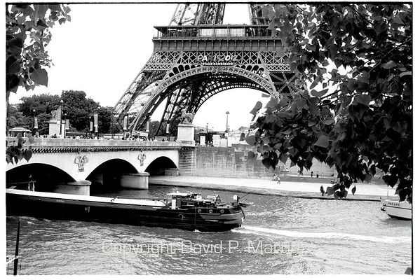 The Seine and the Eiffel Tower. When this was taken, Paris was in the competition for hosting the Olympics in 2012.