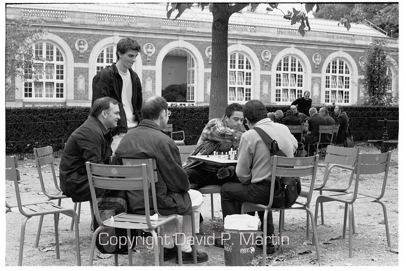Chess in the Luxembourg Gardens.