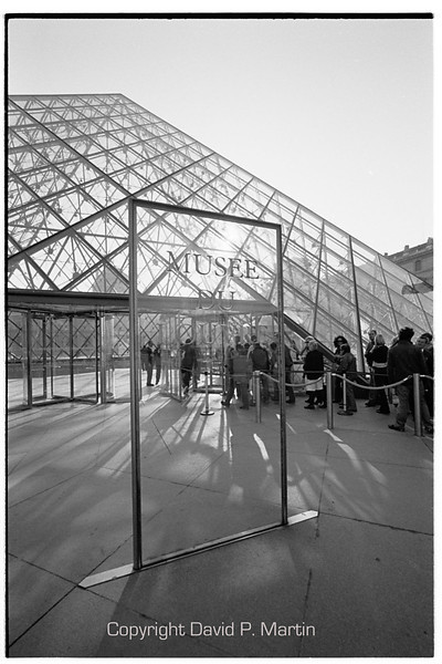 The entrance to the Louvre.