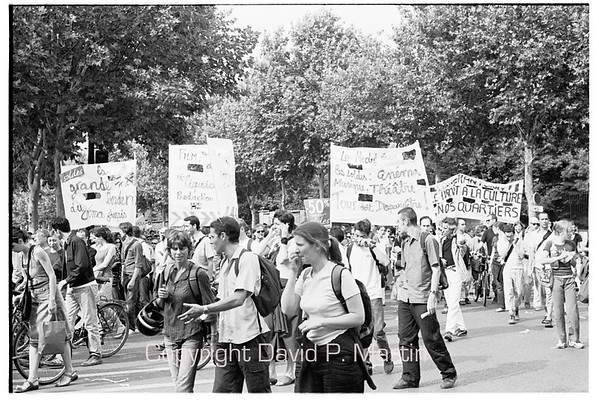 A street demonstration.