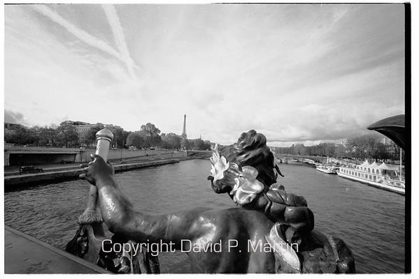 From the Pont du Alexandre.