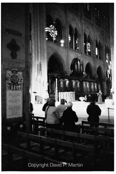 Evening vespers at Notre Dame.