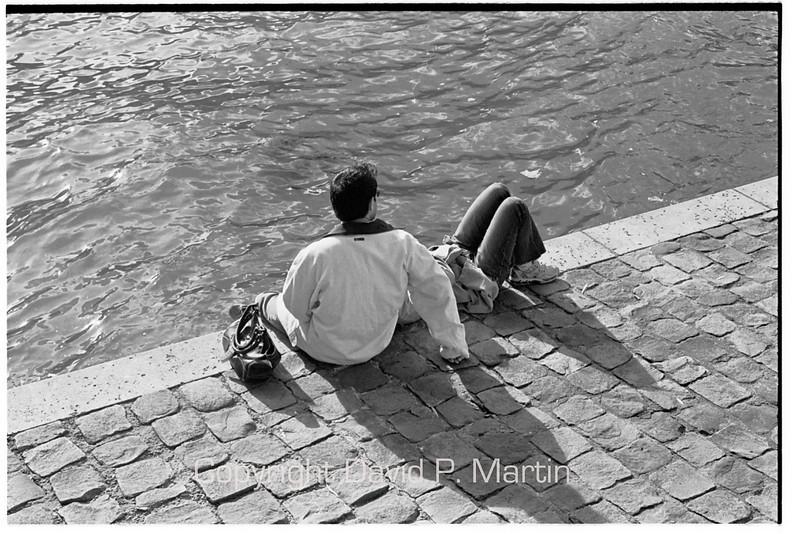 By the Seine.