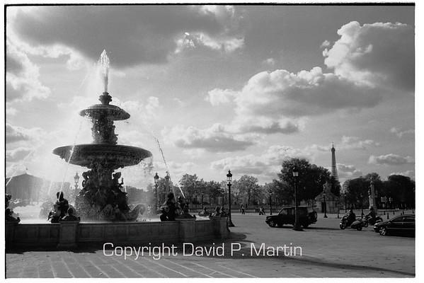 The fountains at Place de la Concorde.