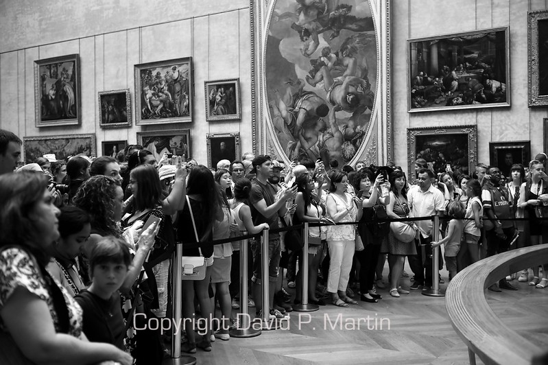 At the Mona Lisa in the Louvre. (DG)
