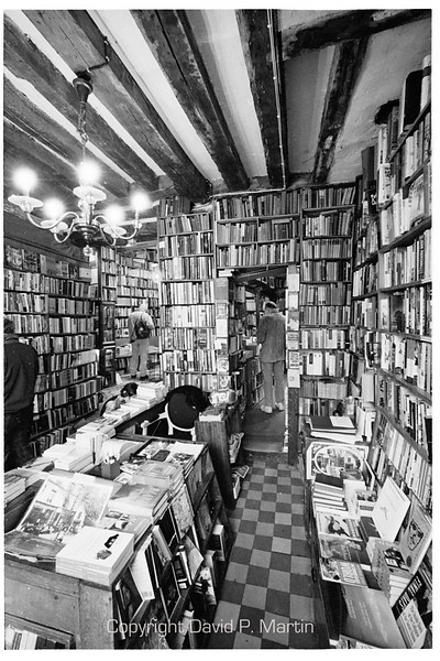 In the bookstore, Shakespeare and Company. (15mm lens)