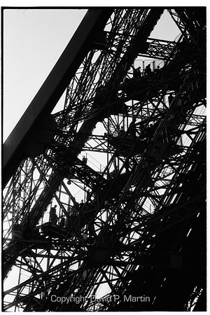 The south leg of the Eiffel tower. (135mm lens)