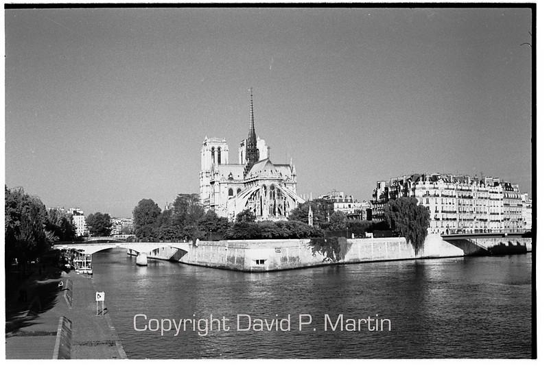 Notre Dame on the Ile de la Cite.