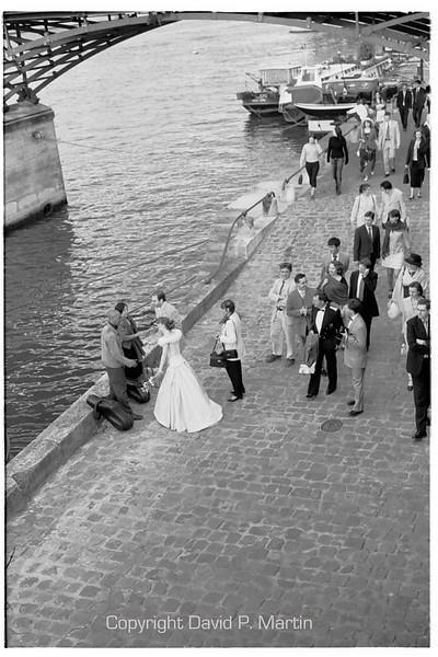 Wedding party on the quai.